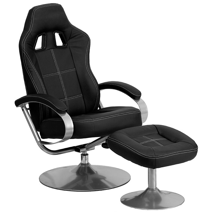 racing recliner with stool