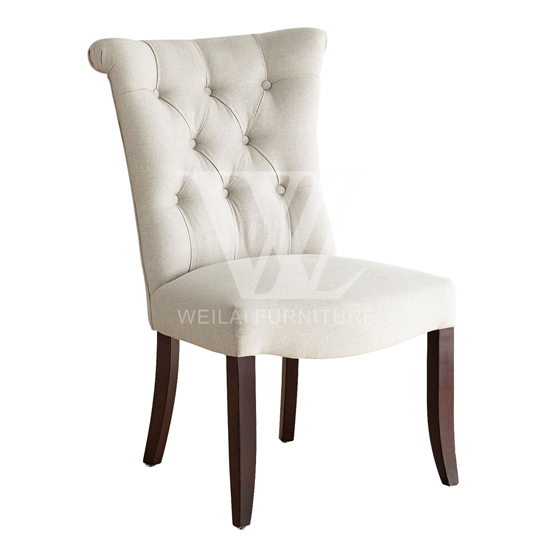Hand Tufted Solid Wood Legs Dining Chair