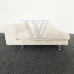 Polyester Sherpa Acrilic Feet Pet Chair Dog Bed