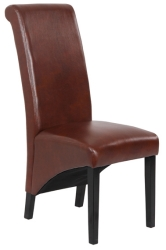 Faux Leather High Back Dining Chair