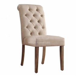 Hand Tufted Fabric Upholstery Dining Chair