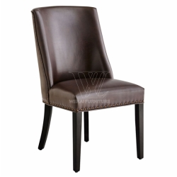 PU Leather Copper Nailed Restaurant Chairs