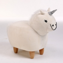 Plush Animal Unicorn Ottoman